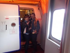 新千歳に向かう飛行機に搭乗。