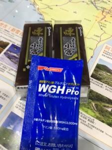 温根湯では羊羹2個とWGHProを補給。