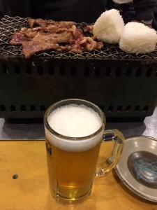 おいしいお肉!※ビールはオプションです※