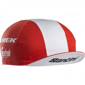 ヘッドウェア Santini Trek-Segafredo Team CyclingCap  Red フリーサイズ