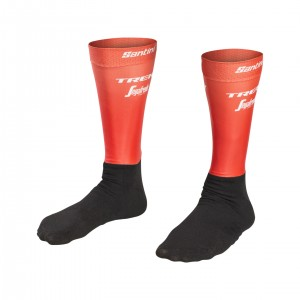 ソックス Santini Trek-Segafredo Team Aero Red サイズS-M/M-L/XL-XXL