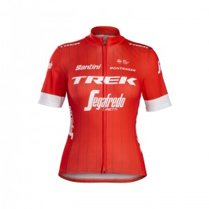 ジャージ Santini Trek-Segafredo Replica Women Red サイズS/M/L