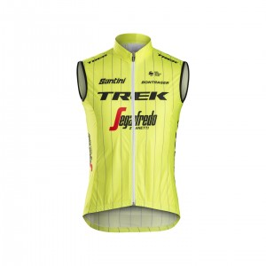 ベスト Santini Trek-Segafredo Team Windshell Yellow サイズS/M/L