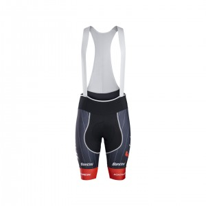 ショーツ Santini Trek-Segafredo Team Bib Red サイズS/M/L