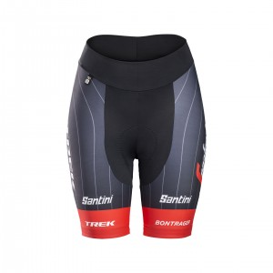 ショーツ Santini Trek-Segafredo Replica Women Red サイズS/M/L