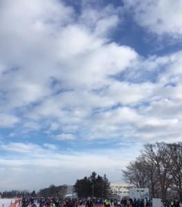 雪予報はどこへやら。青空が見えてきました!