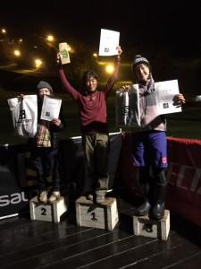 スタッフ暁子、ウィメンの3位に入れました。コースが怖かっただけに嬉しい!
