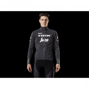ジャケット Santini Trek-Segafredo Team Waterproof Black サイズ:XS/S/M/L