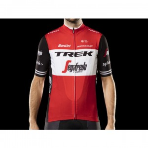 ジャージ Santini Trek-Segafredo Replica Red/Black サイズ:XS/S/M/L/XL