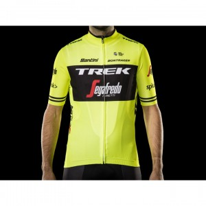 ジャージ Santini Trek-Segafredo Replica Vis Yellow サイズ:XS/S/M/L/XL