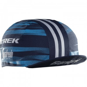 ヘッドウェア Santini Trek-Segafredo Cycling Cap Women 1Size Blue
