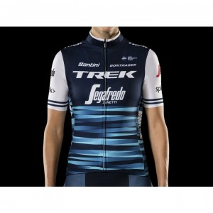 ジャージ Santini Trek-Segafredo Replica Women Blue/White サイズ:XS/S/M/L