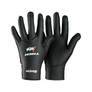 Glove Santini Trek-Segafredo Team Winter Black/White サイズ:S/M/L/XL