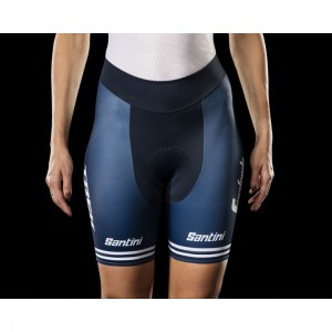 ショーツ Santini Trek-Segafredo Replica Women Blue/White サイズ:XS/S/M/L